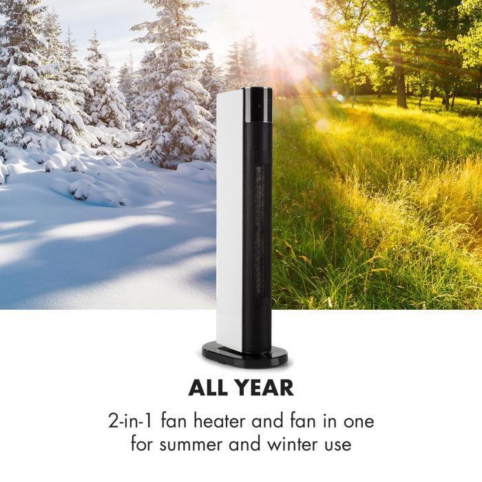 Hightower Heat Deluxe Aquecedor Coluna Ventilador 2200W Termostato