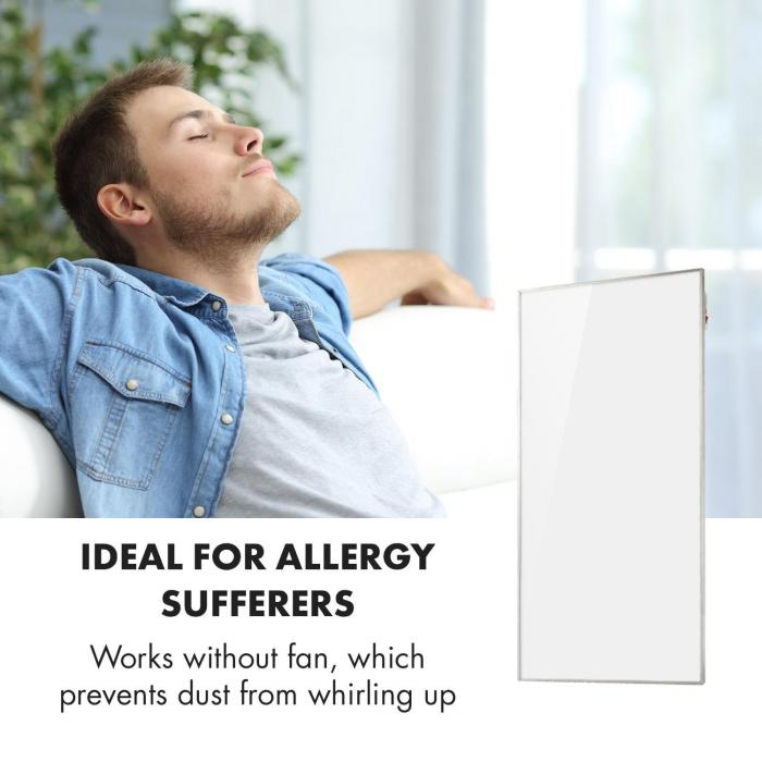 Wonderwall 72 infrapunalämmitin 60 x 120 cm 720 W viikkoajastin IP24 valkoinen
