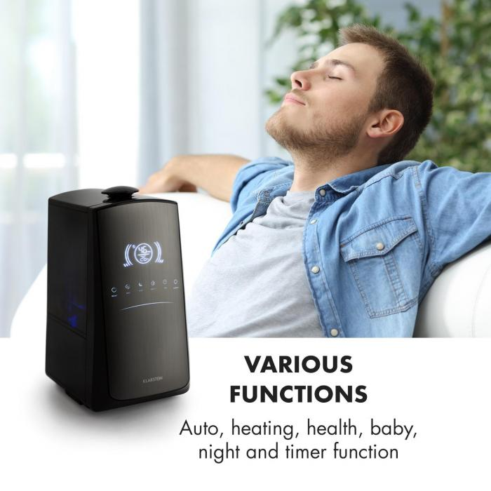 VapoAir Opal Humidificador de aire Display LED táctil Mando a distancia Negro/Antracita