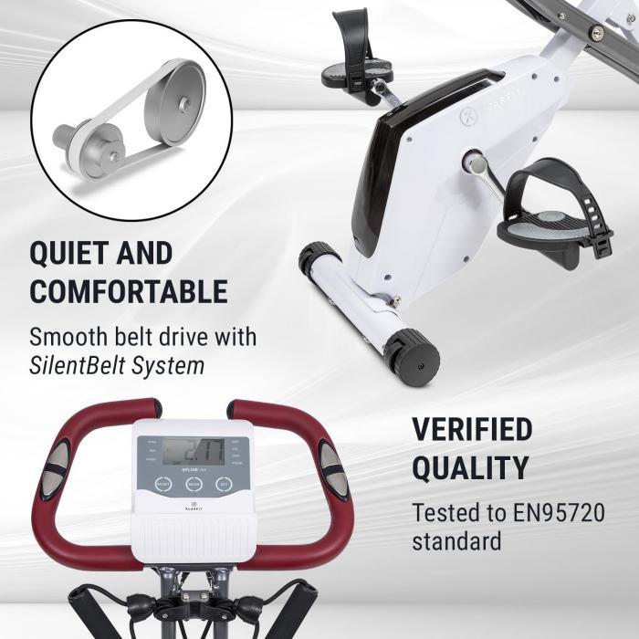 X-Spline Home Trainer, Flexible Straps, Belt Drive, White