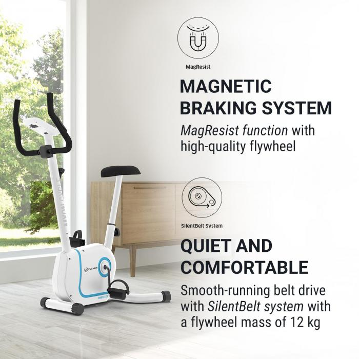 Myon Cycle Exercise Bike 12kg Flywheel SmartCardio Studio black
