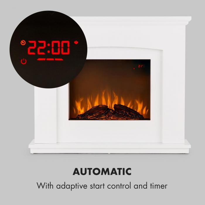 Aosta Light & Fire Electric Fireplace 1000 / 2000W Remote Control