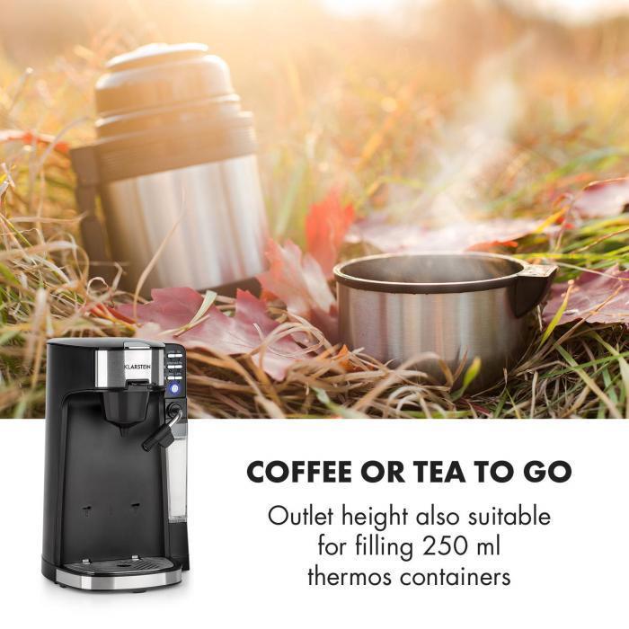 Baristomat 2-in-1-täysautomaatti kahvi & tee maidonvaahdotin 6 ohjelmaa