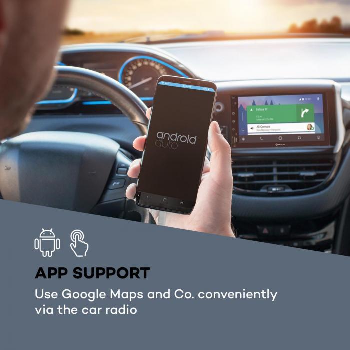 """MVD-400 CP autoradio 7"""" touchscreen 4x45W BT Android Auto USB 2 DIN zwart"""