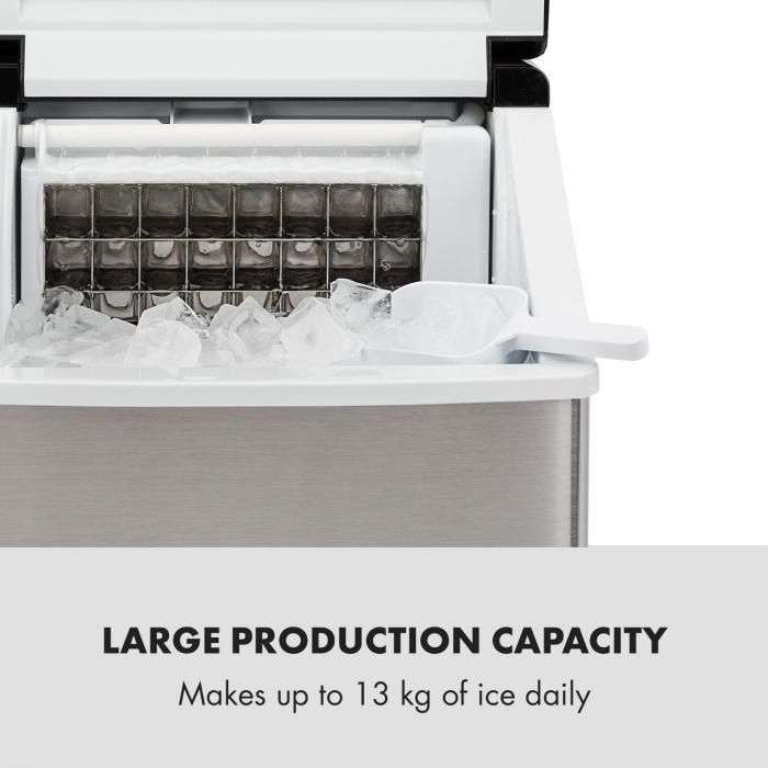Clearcube jääpalakone läpinäkyvälle jäälle 13 kg/24 h ruostumaton teräs musta