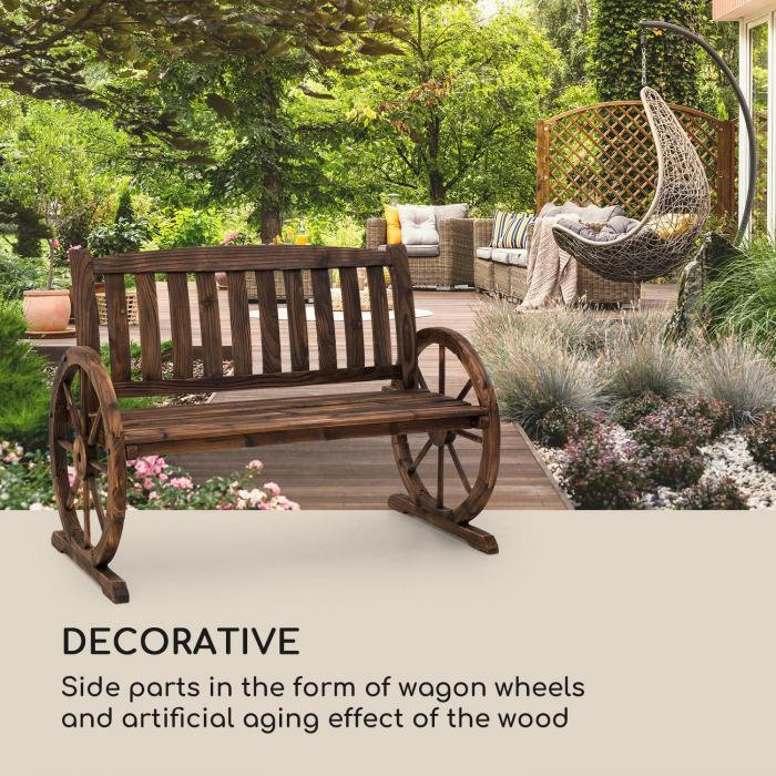 Murnau puutarhapenkki liekkikäsiteltyä kuusta ruskea