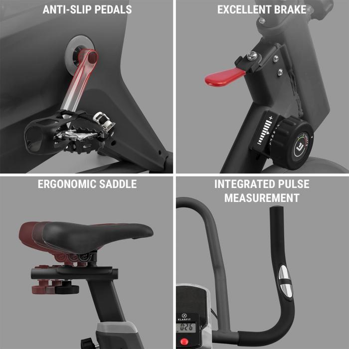 Aeris rower treningowy stacjonarny  masa zamachowa 18 kg 8-stopniowy opór magnetyczny 120 kg czarny