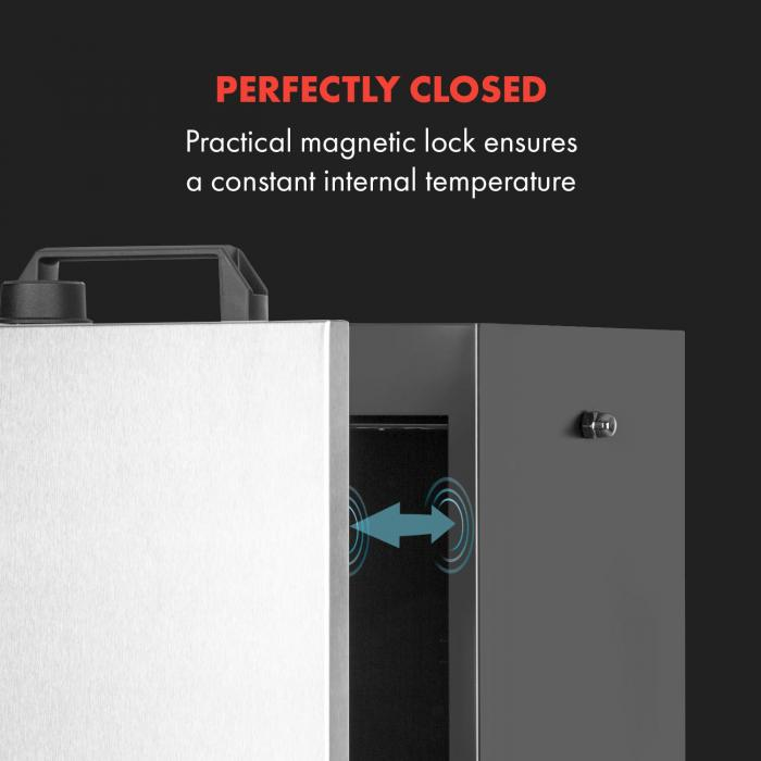 Flintstone Steel savustusuuni 1600 W integroitu termostaatti ruostumatonta terästä
