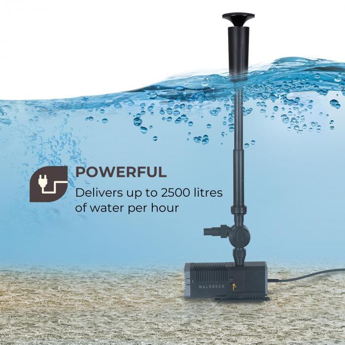Fontanica S45 -suihkulähdepumppu 45 W teho 2,7 m ulottuvuus 2500 l/h