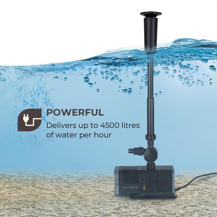 Fontanica S65 -suihkulähdepumppu 65 W teho 3,2 m ulottuvuus 4500 l/h