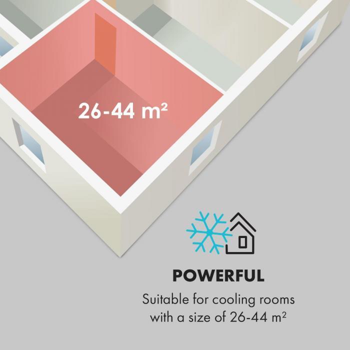 Windwalker Smart Aire acondicionado split de 9000 BTU/2,7 kW Caudal de aire de 600m³/h