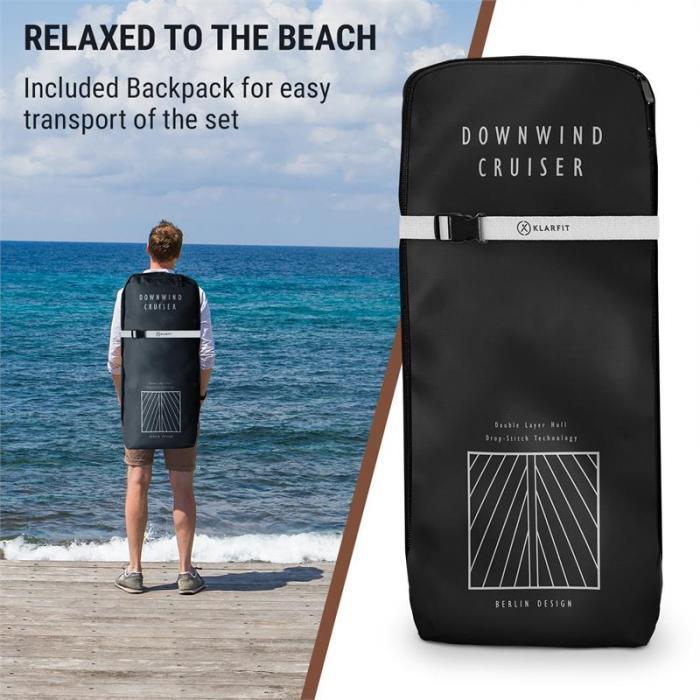 Downwind Cruiser aufblasbares Paddelboard SUP-Board-Set 305x10x77