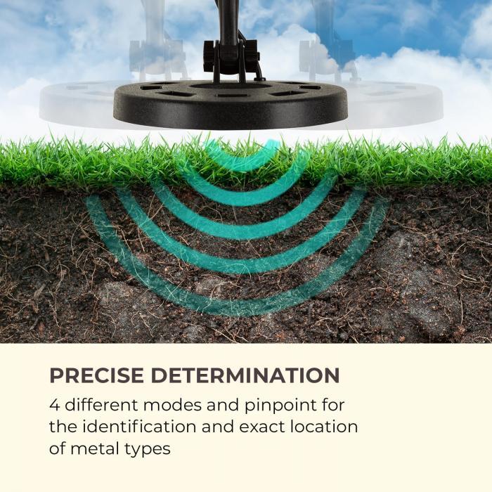 Waldbeck Yukon metal detector 4 modalità funzione pinpoint nero