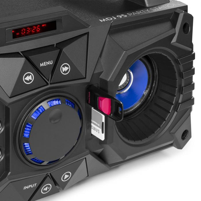 MDJ95 Party Station Bluetooth USB / SD / AUX Battery Black