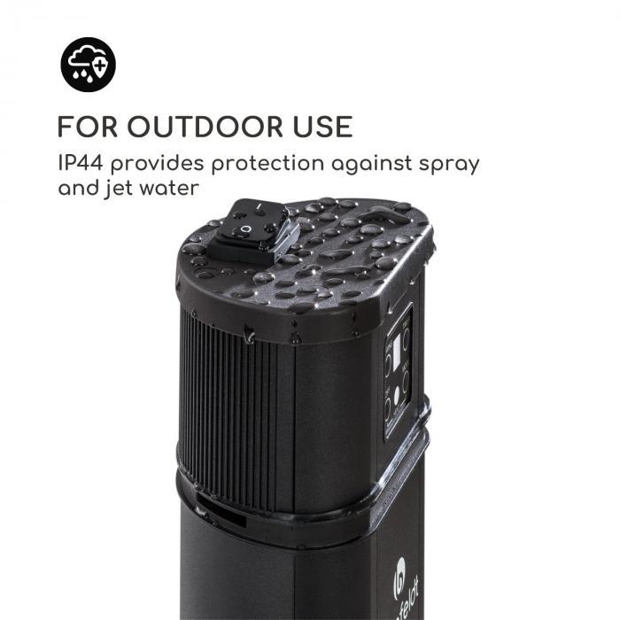 Heat Guru Plus -lämmitin 2000 W 3 lämmitystasoa kaukosäädin musta