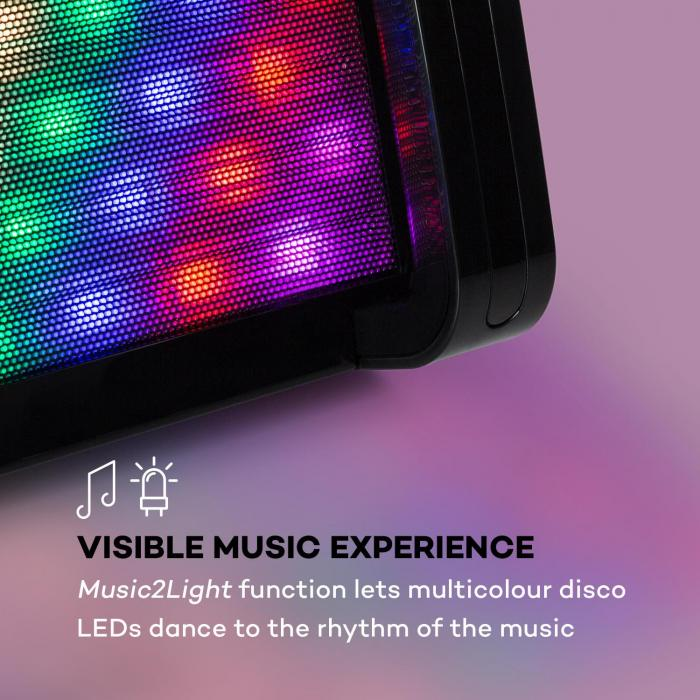 DiscoFever 2.0 Karaoke System, BT, Disco LED, CD- / CD + G-Player Black