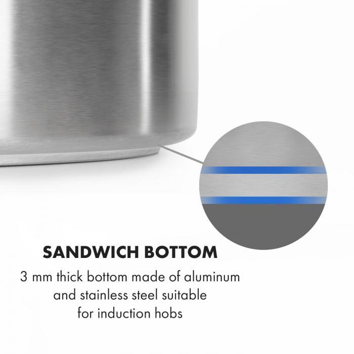 Brauheld Pur 25 caldero para macerar 25 litros sin dispositivo térmico acero inoxidable