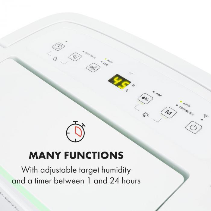 DryFy Connect 30 ilmankuivain wifi kompressori 30 l/päivä 25-30 m² valkoinen