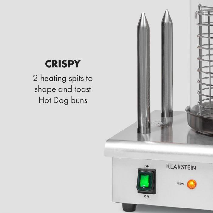 Wurstfabrik Pro 550 Hot Dog Maker 550W 5L 30-100°C Vetro Acciaio Inox