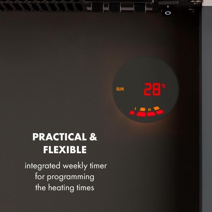 Studio 1 Elektrischer Kamin 1000/2000W LED 10-30 °C Wochentimer