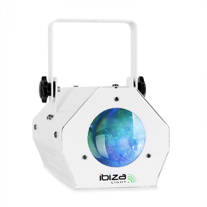 """Ibiza LED Licht- & Showeffekt Set """"White"""" mit Nebelmaschine & Moonflower Effekt"""