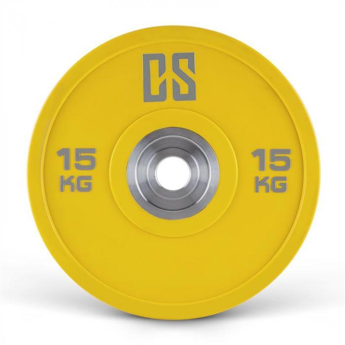 Performan Urethane Plates Gewichtsplatten Paar 15kg Gelb
