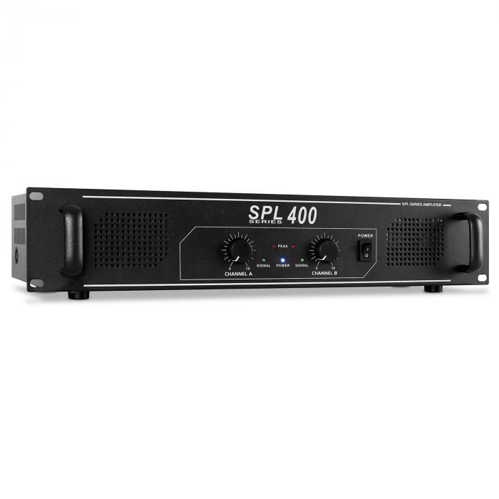 "Disco ""Warm Up Party"" PA Set 400W DJ Amplifier 8"" Speaker Pair"