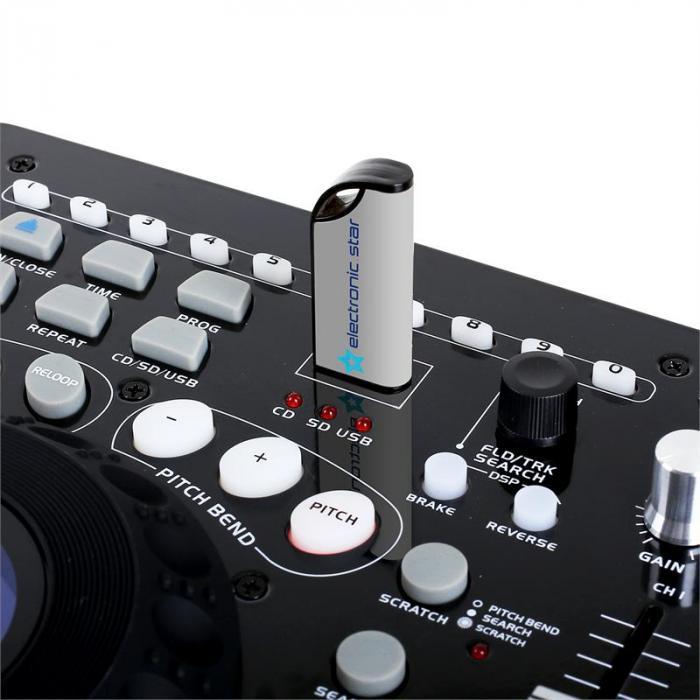 Full Station Double DJ-CD-soitin MP3:lla & mikserillä