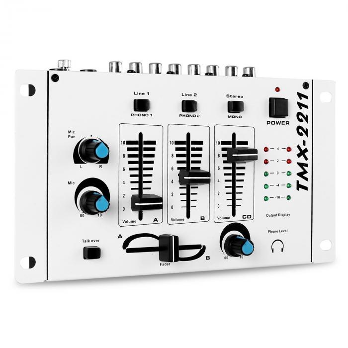 """DJ-set """"DJ-94"""" PA-förstärkare DJ mixer mikrofon 1200W"""