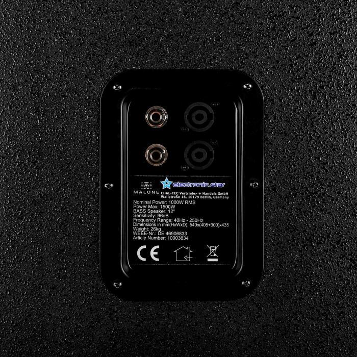 Malone Disco - Set PA DJ 2.0 SUB 2 x Subwoofer & Amplificador 2000 W