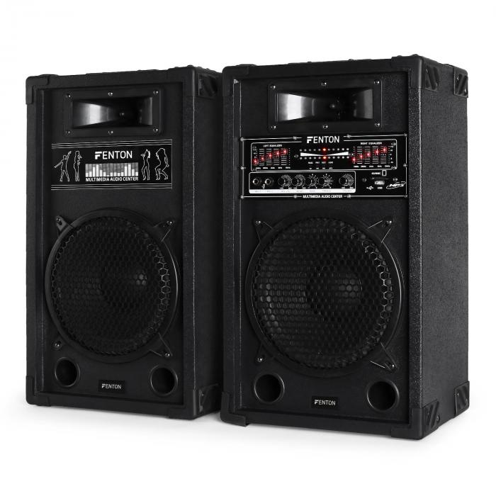 DJ PA AKTIV LAUTSPRECHER SYSTEM 800W STUDIO SOUND HIFI BOX USB SD MP3 B-WARE