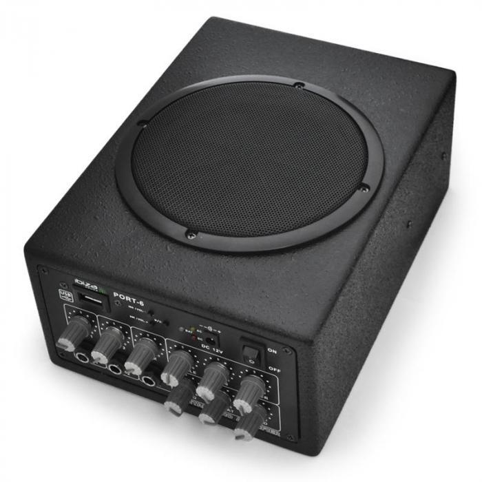 Siirrettävä PA-laitteisto Ibiza Port-6 akku 12 V kompakti