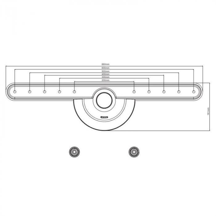 LED-096 LED TV LCD Wall Bracket <40kg Load <600mmx400mm