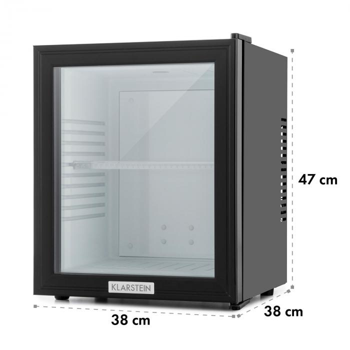 mks 12 minibar 24 liter klasse b schwarz glas 0db online kaufen elektronik star de. Black Bedroom Furniture Sets. Home Design Ideas