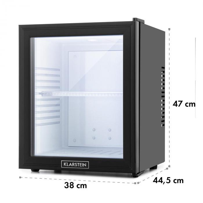 MKS-13 minibaari minijääkaappi luokka A 32 l 0 dB lasiovi musta