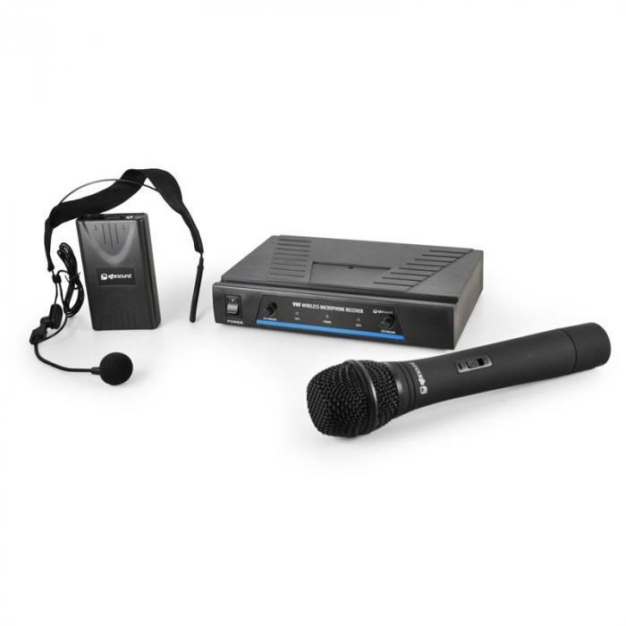 171.810 VHF-Funkmikrofon-Set 2 Kanäle Headset Hand