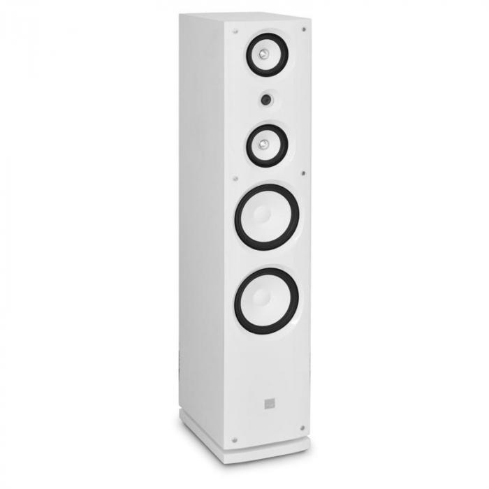 858F HiFi-Lautsprecher Paar weiß 100W RMS