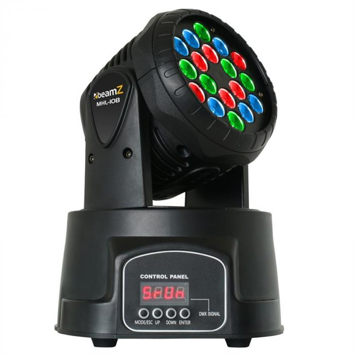 LED-108 moottoroitu Moving Head RGB 12/4-kanava-DMX