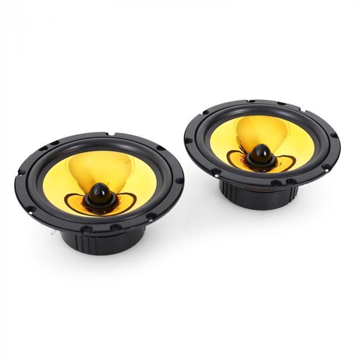 "2.0 Car HiFi Set Golden Race V2 -6.5"" Speakers & Amplifier Set 2200W"