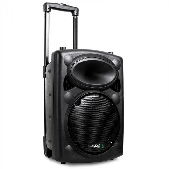 "PORT10VHF-BT 500W 10"" Portable PA Speaker MP3 Bluetooth USB SD + Mics"