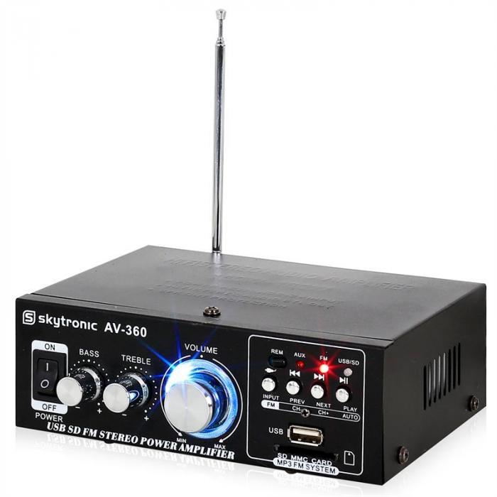 AV-360 HiFi Amplificatore Stereo USB SD