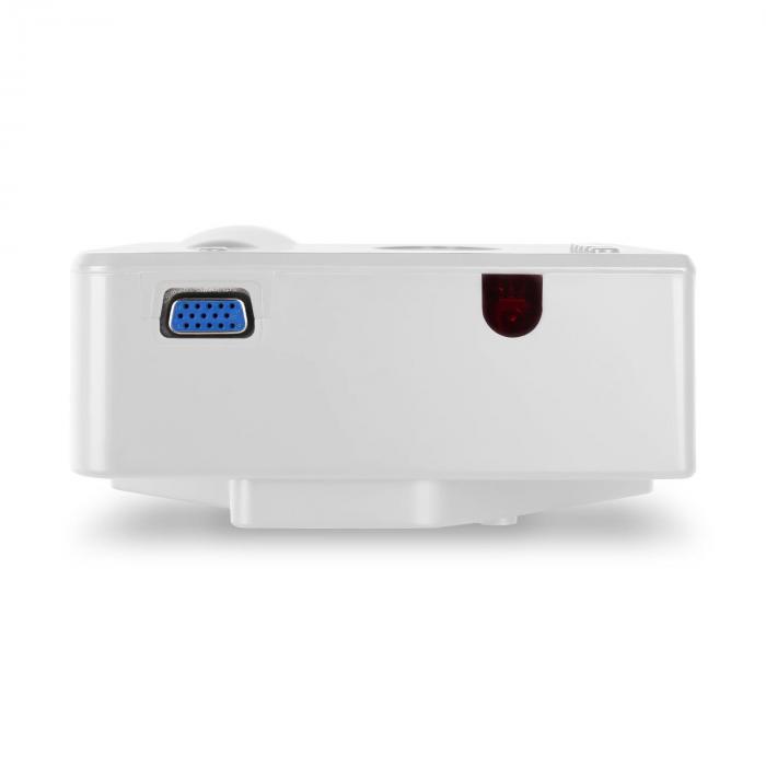 Projektori LED minivideotykki valkoinen VGA AV