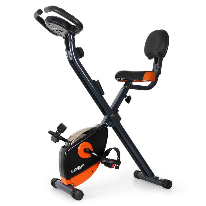 X-Bike 700 Cyclette richiudibile nera/arancione