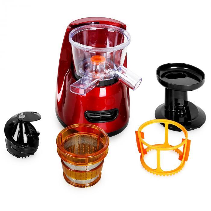 Fruitpresso Bella Rossa Slow Juicer Saftpresse 150W 70 U ...
