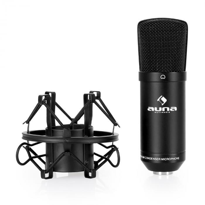 CM001B studiomikrofoni musta kondensaattori laulu XLR