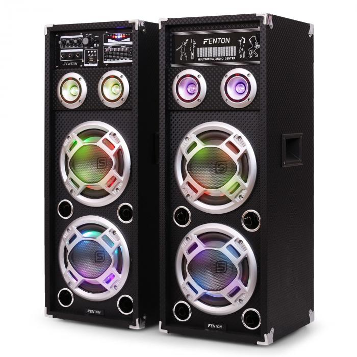 KA-28 aktives Karaoke-PA-Lautsprecher Set USB SD AUX