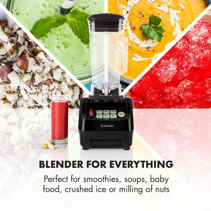 Herakles 5G Kitano Power Blender black Knife Set 1500W BPA-free 2l / 7 Knives