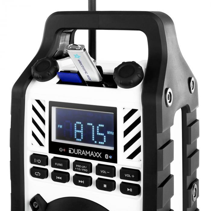 862-BT-WH Baustellenlautsprecher MP3 USB SD AUX Bluetooth weiß