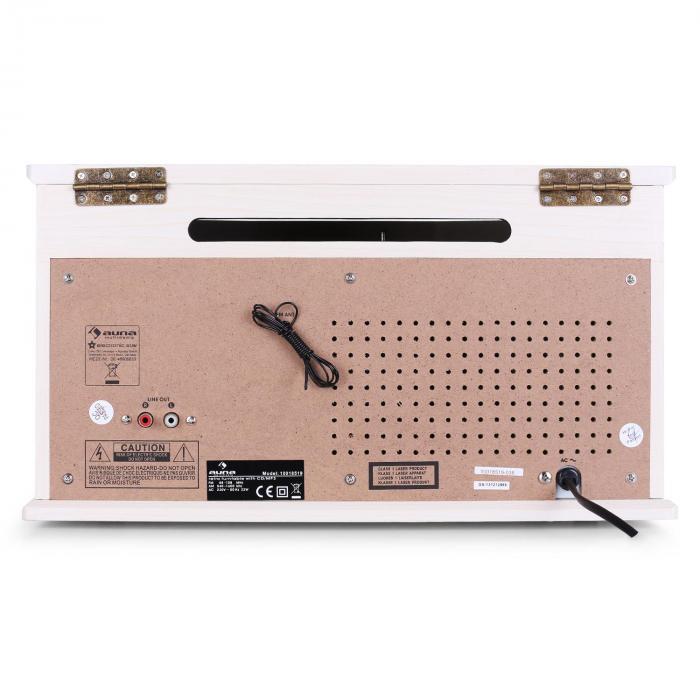 NR-620 Stereo platenspeler MP3 -pname Houten behuizing crème