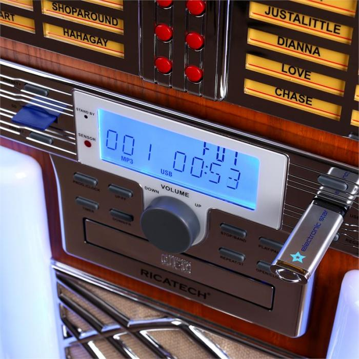 RR2100 Jukebox USB SD AUX CD FM/AM